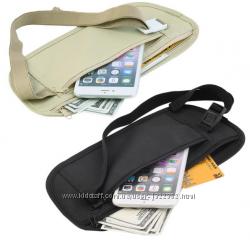 Поясная сумка на пояс плоская. Ткань хлопок. Кошелёк, портмоне, чехол.