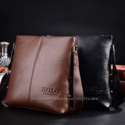Стильная мужская сумка Polo, 27х25х4 см.