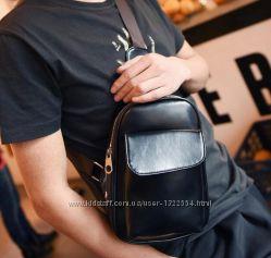 Мужская сумка-рюкзак мессенджер в трех цветах