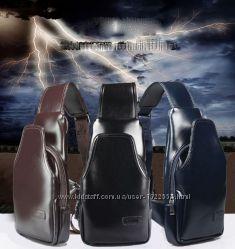 Компактный и удобный мужской рюкзак через плечо Locer. Размер 29-15-6 см