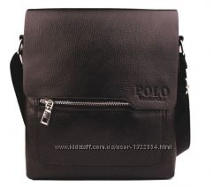 Стильная мужская сумка Polo Videng. Размер 27-23-5 см