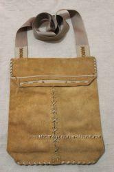 Стильная хендмейд сумка из кожи