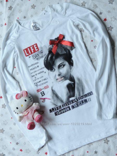 Реглан, футболка длинный рукав для девочки