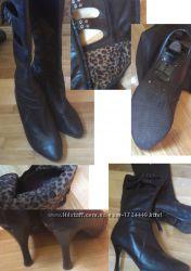 Фирменные осенние сапоги фирмы Ellenka кожаные очень качественные