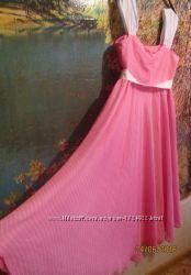 Платье - сарафан в горошек для животика