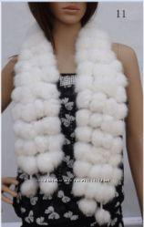 Женский меховой шарф из кролика