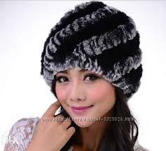 Женская меховая шапка из кролика рекс