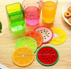 Подставки под чашки в виде фруктов