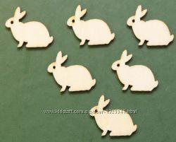 Пасхальные кролики из дерева