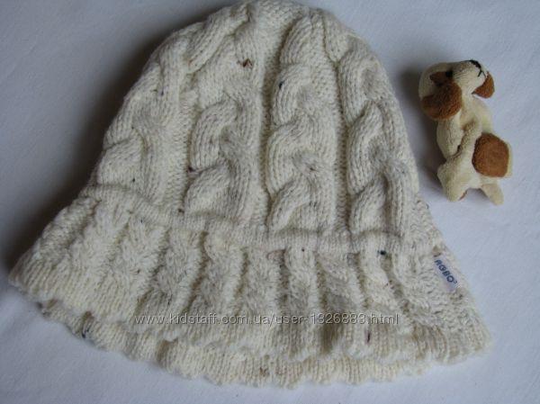 Вязанная демисезонная шапка AGBO 1-2 года.