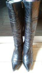 Кожаные зимние сапоги 36 размер