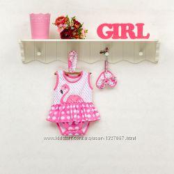Комплект для девочек кулир 68-80 в коробке
