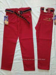Котоновые брюки, джинсы штаны чиносы на мальчика от 5 до 13 лет