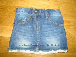Очень красивая джинсовая юбка RT на 2-3 года