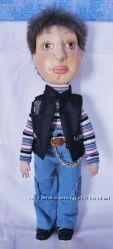 Текстильная авторская кукла мальчик, ручной работы