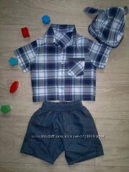 Летний костюм - рубашка, шорты и бандана