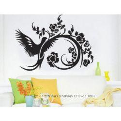 Интерьерная наклейка на стену Птица