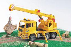 Брудер игрушка - автокран MAN М116 Bruder 02754