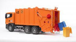 Брудер мусоровоз SCANIA  R-R-series оранжевый  М116 Bruder 03560