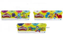 Плей До набор пластилина из 4х банок по 112г. Play-Doh B5517 Hasbro