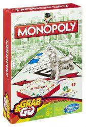 Акция Hasbro MONOPOLY Дорожная игра Монополия B1002