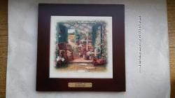 Картина на керамике в деревянной раме. Прованс.