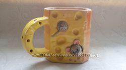 Чашка керамическая подарочная сыр с мышками Обмен