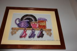 Картина бисером Кухня