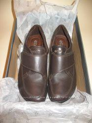 Новые оригинал Ecco полуботинки, кожа, р. 37, стелька 24. 2 см