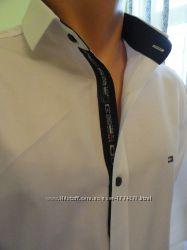 Tommy Hilfiger. Рубашка белая модная стильная, сезон 2018.