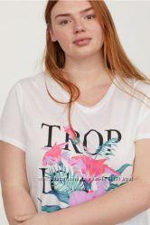 Женские футболки H&M , большой размер Л и 3ХЛ