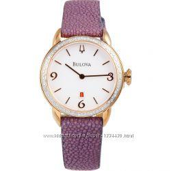 Акция Только бриллианты Шикарные часы BULOVA, 78 шт. , кожа ската, оригинал