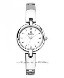 Только бриллианты Утонченные часы BULOVA с натуральным бриллиантом, оригинал