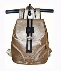 Обалденный золотой рюкзак рюкзачок золото отличного качества