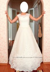 Кружевное свадебное платье в европейском стиле с бантиком