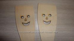 Деревянная лопатка улыбка
