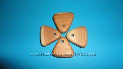 Кулон-подвеска из можжевельника Треугольник