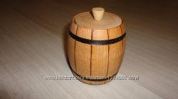 Бочонок деревянный для специй и приправ