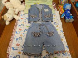 Джинсовый костюм на 8 мес - 1, 5 года.