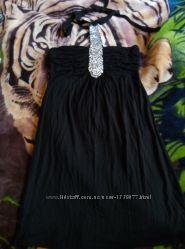 Продам коктейльное черное платье М 36-38