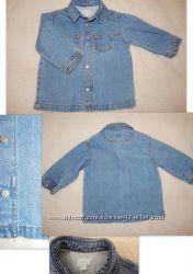 Шикарная джинсовая рубашка MEXX, рост 80 см