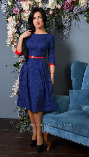 1652deae857 Женское очаровательное платье-клеш за колено