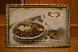 картина бисером Утренний кофе