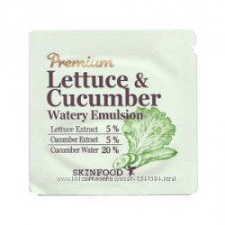 Skinfood серия Premium Lettuce & Cucumber, пробники, эмульсия
