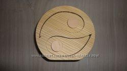 Шкатулка деревянная ИНЬ - ЯНЬ заготовка для декупажа