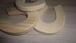 Заготовки деревянные для декупажа - звездочка, подкова, бабочка