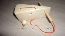 Игрушка Сыр для мышки. Шнуровка