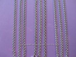 Цепочки, ручное плетение, крепкие, серебро