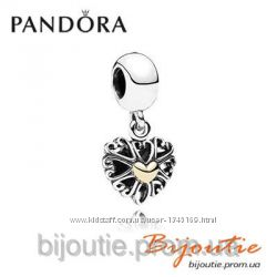 Шарм Pandora втілення кохання 791274 серебро 925 золото 14К Пандора оригина