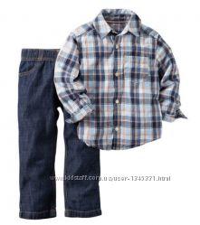Картерс Комплект рубашка и штанишки для мальчика, Carters